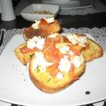 Grrek bread with feta and tomatoes