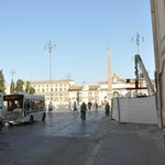 Short walk to  Piazza Popolo