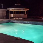 Pool and Jacuzzi - empty at 8pm
