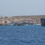 Isla de Comino desde el ferry.