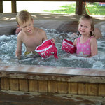 Kids Having Fun in Hot Tub