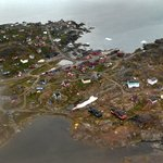 Inuit village from air - 082213