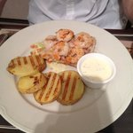 sea bass with prawns fresher cooked to order