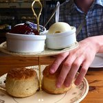 Devon cream tea - beautifully presented and absolutely delicious!