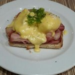 eggs benedict with extra bacon..
