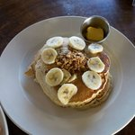 Banana pancakes not to be missed