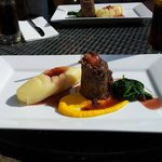 The most tender and beautifully presented braised beef with spinach and mash