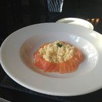 Breakfast- Smoked salmon & scrambled eggs