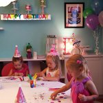 The Cupcake Room at Simply Cupcakes for my daughter's 5th birthday at Simply Cupcakes