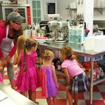 Tour of the kitchen for my daughter's 5th birthday at Simply Cupcakes