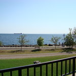 The view of Lake Superior from our balcony.
