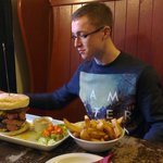 A burger to die for! 500g of pure steak in a burger!