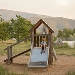 Children's play area at Dieulefit
