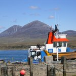 The Paps of Jura and car ferry