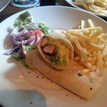 Cajin Chicken Wrap with Fries £5.60