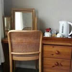 Dressing table and tea making in the room