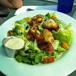 Blackened Monk Fish on a Caesar Salad