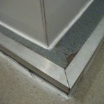sharp edge on shower tray
