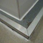 sharp edge on shower tray