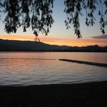 Evening view of swim area looking towards west Osoyoos.