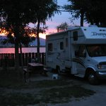 RV Site with full hookup with view of lake.