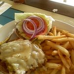 LB Cafe, Ortega grilled chicken breast sandwich - GREAT!