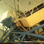 Telescope inside Keck Observatory