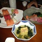 寿司・刺身・揚出豆腐(但し食べさし)