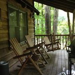 Cabin #4-Back porch & grill