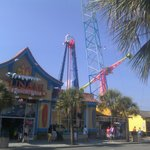 Rides and stores on the Boardwalk