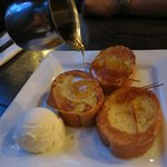 French Toast with Vanilla Ice Cream