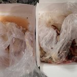 Atrocious.  Would you want to eat this if your food was packaged like so??