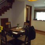 Dining area within villa