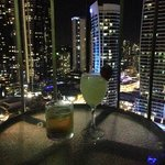 View from balcony & some drinks
