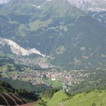Wengen and Lauterbrunnen from the Mannlichen cable car