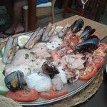 Leckere Fischplatte auf Sonderwunsch