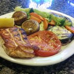 Grilled Salmon w/ vegies