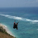 Paragliding at Pandawa Beach