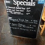 specials w/prices. it's Ireland, it's expensive! food is value tho as it's quality!