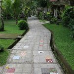 Beautifully tiled paths everywhere