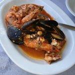 seafood saganaki