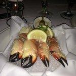 fresh stone crabs.