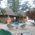 Outdoor bar/restaurant and bungalows