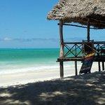Beach bar overlooking the Indian Ocean
