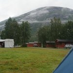 The campsite and the view of the mountains