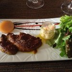 Fois Gras - fresh, well cooked, some Thai spice as well. Suberp