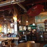 very cool decor w a small fishing touch.