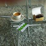 Espressomaskin på rummet