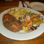 Breaded Chicken stuffed with garlic & stilton
