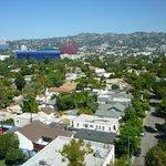 Vue sur la colline d'Hollywood depuis notre suite